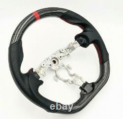 REVESOL Real Carbon Fiber Black Steering Wheel for 2009-2020 NISSAN 370Z Z34