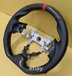 REVESOL Real Carbon Fiber Black Steering Wheel for 2012-2015 HONDA CIVIC GEN9 SI