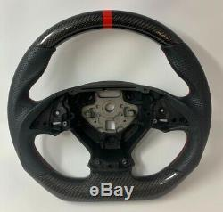 REVESOL Real Carbon Fiber Flat Steering Wheel for 2014-2019 Chevy Corvette C7