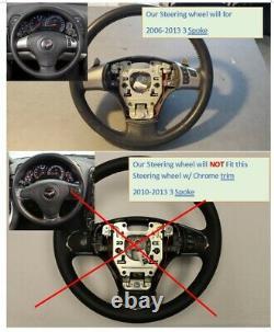 REVESOL Real Carbon Fiber Steering Wheel for 2006-2013 Corvette C6 Z06