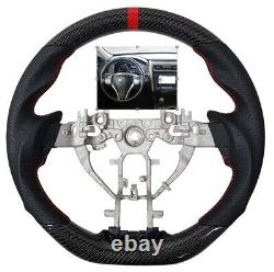 REVESOL Sports Leather Steering Wheel for 2013-2018 NISSAN ALTIMA -CARBON FIBER