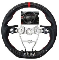 REVESOL Sports Real Carbon Fiber Steering Wheel for 2018-2020 CAMRY AVALON NEW