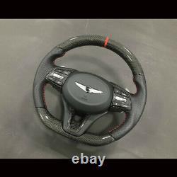 Real Carbon Fiber D cut Steering wheels For Hyundai Genesis G70 2018+