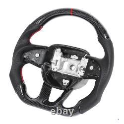 Real Carbon Fiber Sport Preforated Steering Wheel for Dodge Charger Challenger