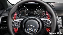 Red Carbon Fiber Steering Wheel Paddle Shifter Extensions For Land Rover 10-16