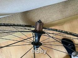 Reynolds Assault Carbon Fiber Clincher Wheelset 700c 10 spd Shimano rim brake