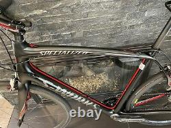 SUPER CLEAN Specialized S-Works Roubaix Sram Red 58cm Road Bike WithCarbon Wheels