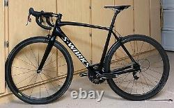 SUPER CLEAN! Specialized Sworks Tarmac SRAM RED 56cm 56 With Carbon Wheels Black