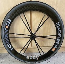 SUPER RARE/CLEAN! Mad Fiber Wheels 60mm/66mm Carbon Wheelset Madfiber CLINCHER
