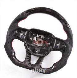 Smart Led Carbon Fiber Flat Steering Wheel for Dodge Charger Challenger SRT2015+