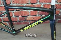 Specialized S-WORKS TARMAC SL6 Carbon Frameset 49cm Rim Brake Chameleon Green