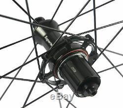 Superteam 700C 50mm Clincher Bike Carbon Road Bicycle Wheels Carbon Wheelset