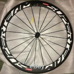 Superteam Carbon Fiber Road Bike Wheels 700C Clincher Wheelset 50mm Matte 23