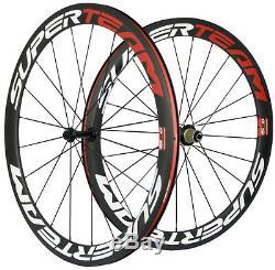 Superteam Carbon Wheels 50mm Road Bike Carbon Wheelset 3k Matte Basalt 700C Bike