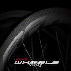 T800 Carbon Fiber Clincher 45mm Rim Brake Carbon Wheel Road Bike 700C Wheelset