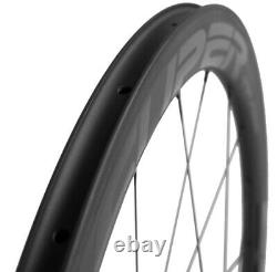 UCI Approved 25mm U Shape Carbon Wheels 50mm Carbon Bicycle Wheelset 700C Race