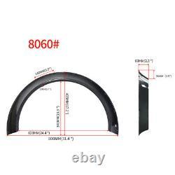 Universal 4Pcs ABS Car Fender Flares Wheel Arches Carbon Fiber Look 80mm + 60mm