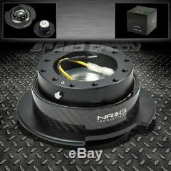 Universal Nrg Steering Wheel 6-hole Gen 2.5 Quick Release Adaptor Carbon Fiber