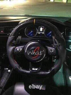 VW Golf R GTI MK7 MK7.5 Carbon Fibre Steering Wheel