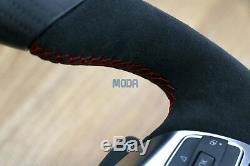 VW Volkswagen MK6 APR Golf GTI GLI Steering Wheel Matte Carbon Fiber Alcantara