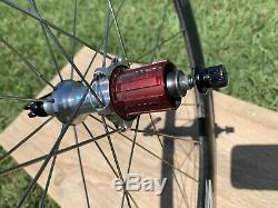 Zipp 404 Clincher Wheel Set, 10 Speed, 700c, Shimano/SRAM, Clydesdale Rims