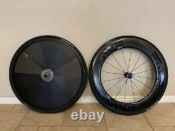 Zipp 700c super 9 carbon rear disc wheel 11speed hub clincher includes inflator